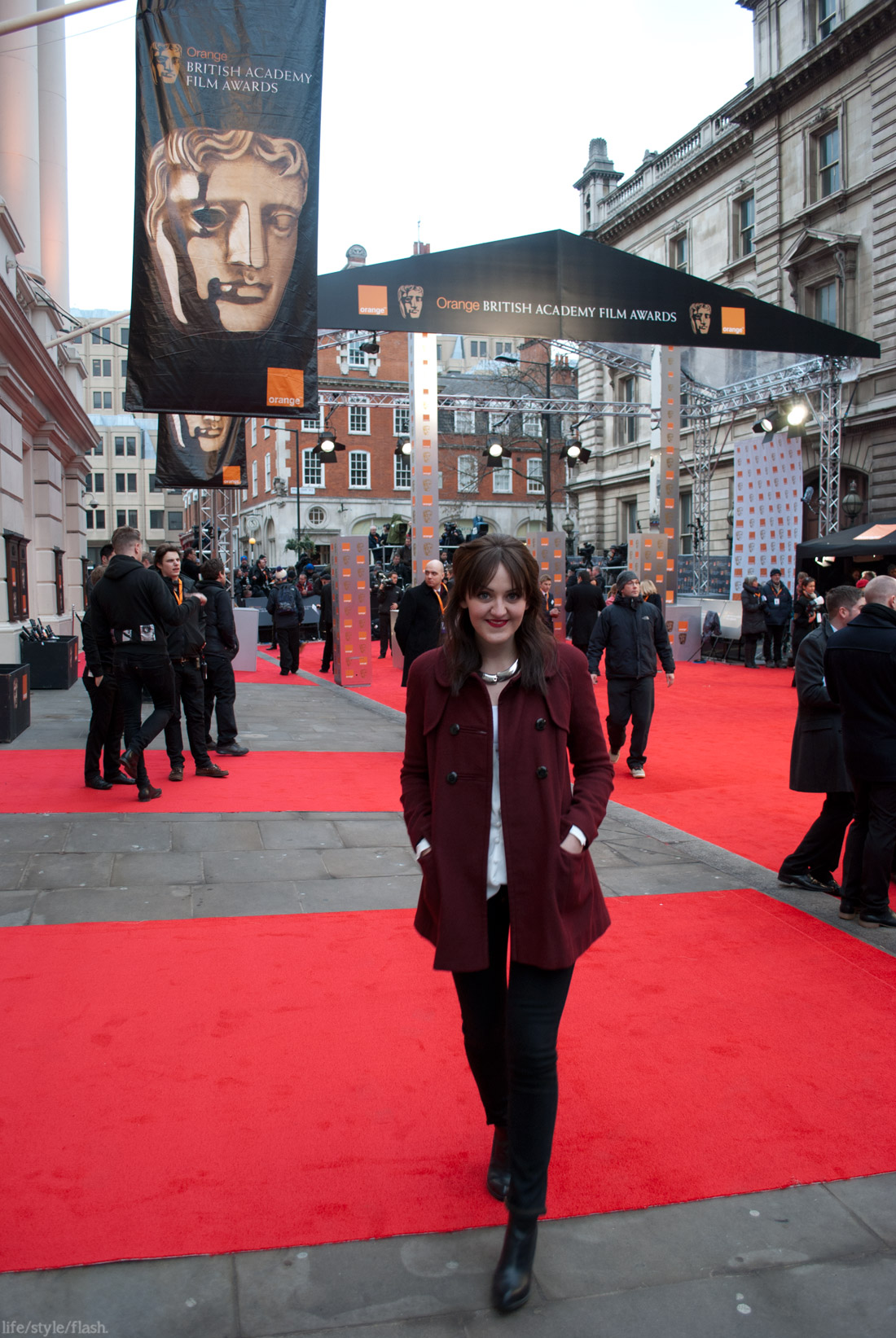 BAFTA awards 2012 - me on the red carpet!