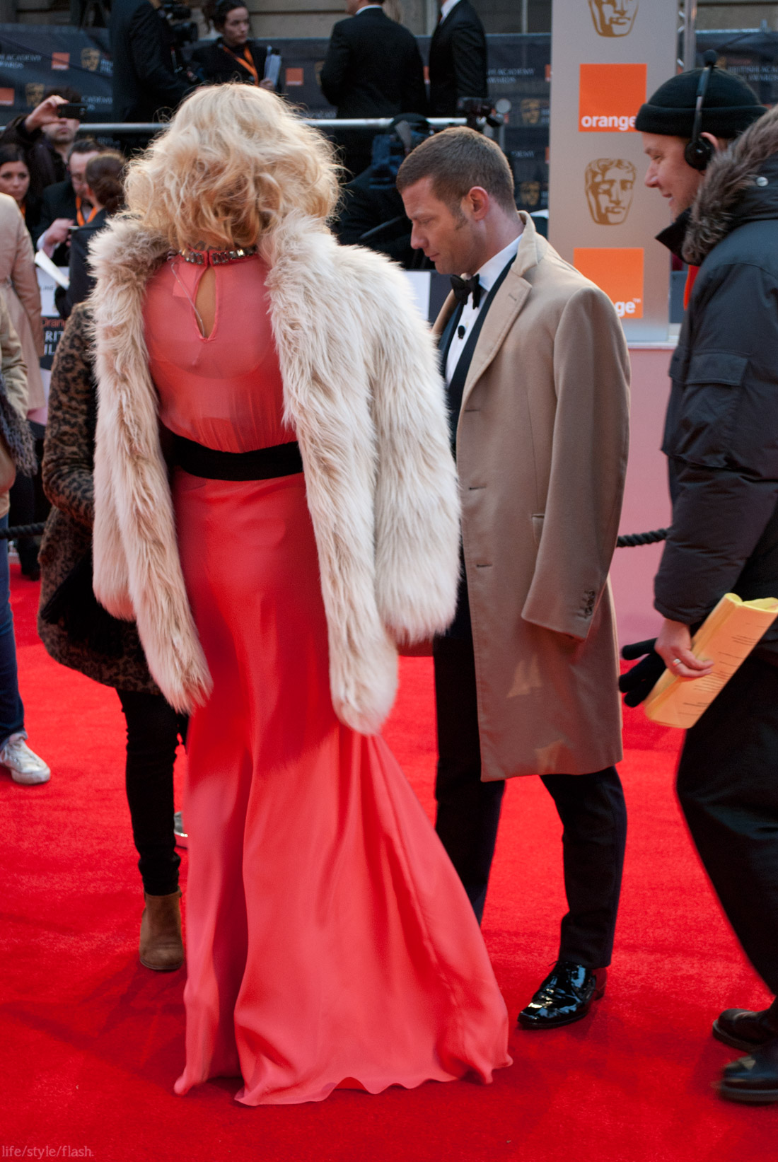 BAFTA awards 2012 - Fearne Cotton and Dermot O'Leary on the red carpet
