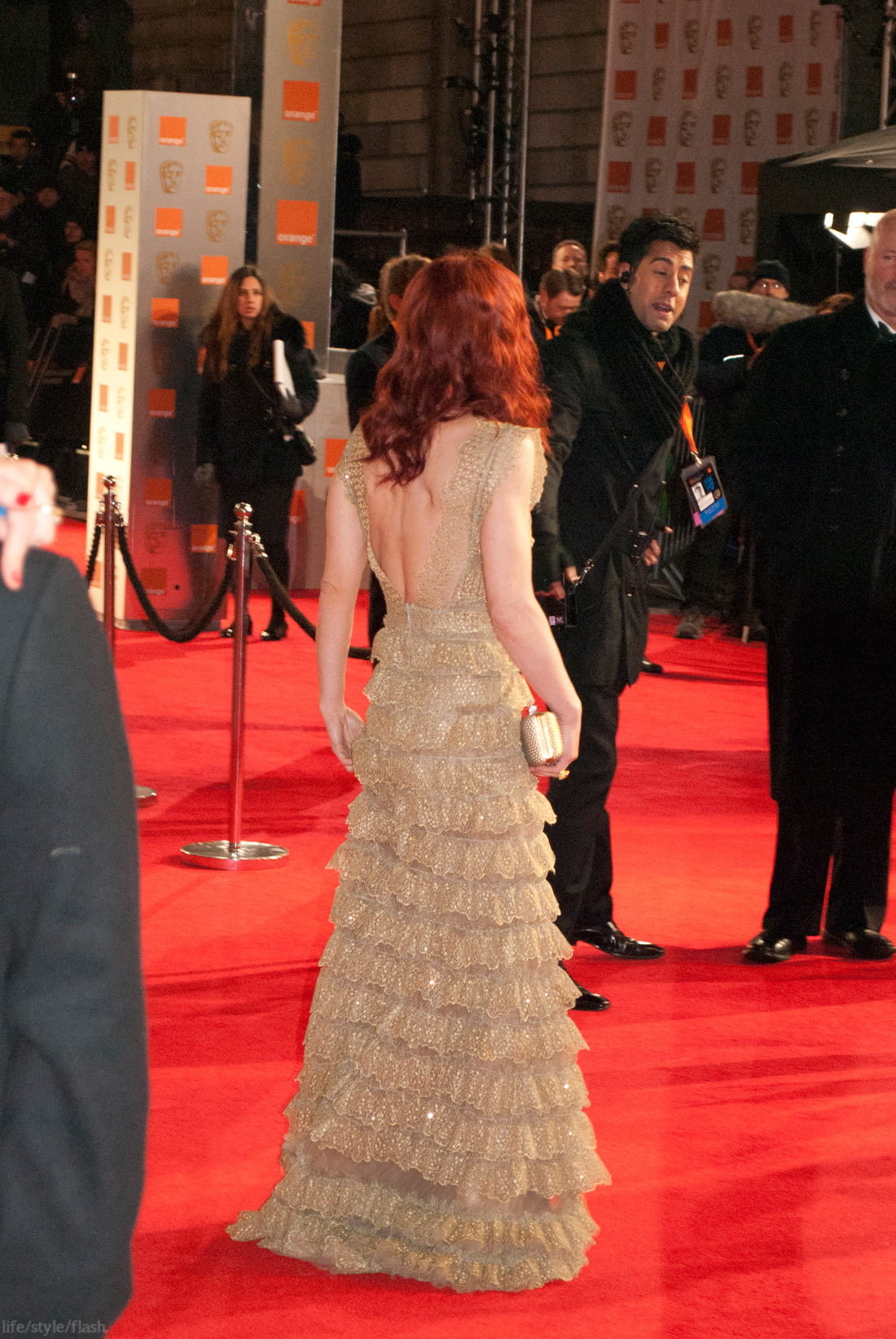 BAFTA awards 2012 - Emilia Fox on the red carpet