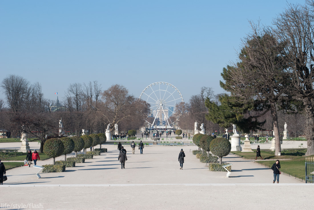 Jardin de Tuileries and ferris wheel