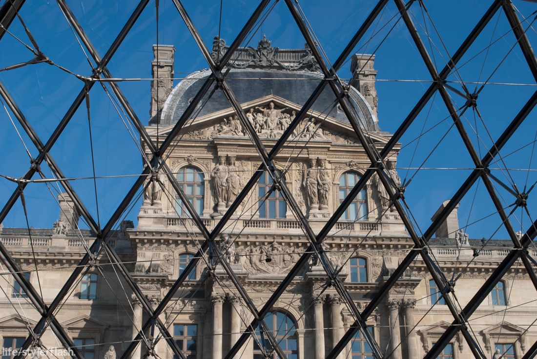 The Louvre from inside the pyramid