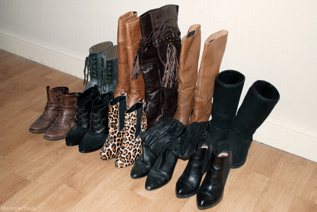 All of my boots