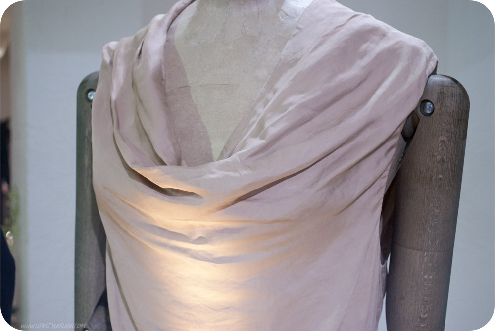 All Saints AW12 press day - draping, cowl neckline