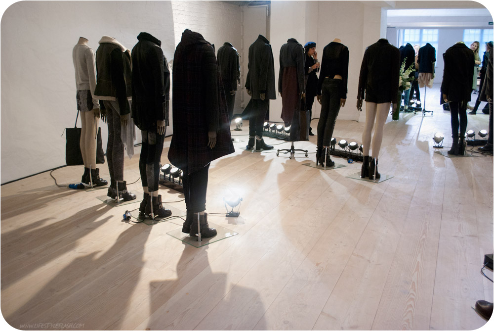 AllSaints AW12 press day - several looks on mannequins
