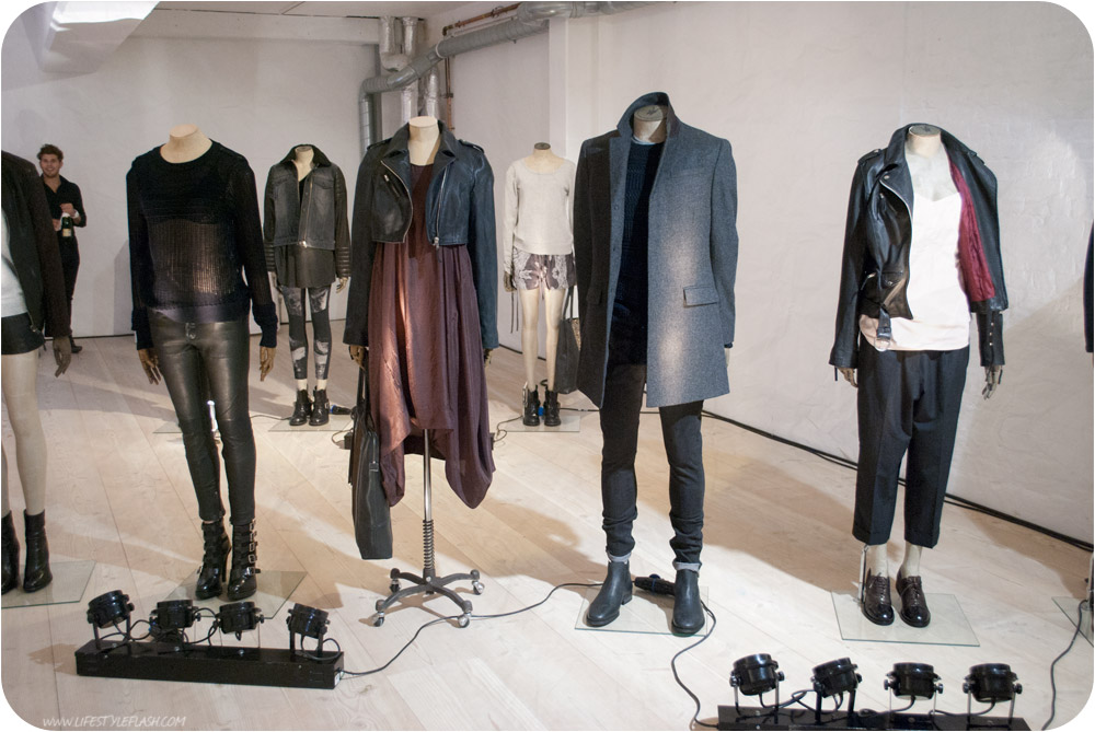 All Saints AW12 press day - several looks on mannequins