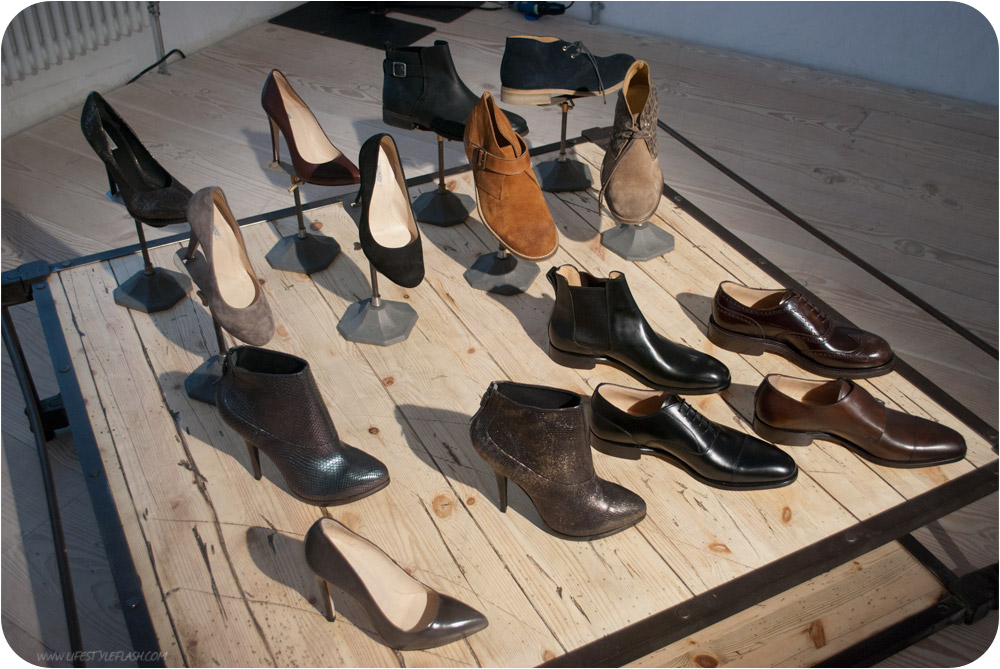 All Saints AW12 press day - shoes laid out on a table