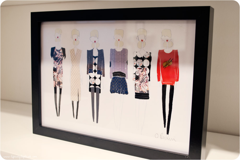 Olivia Rubin AW12 press day - line drawings / sketches