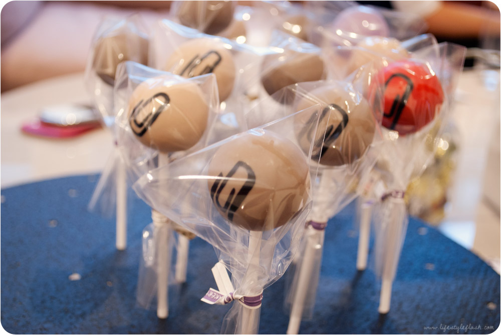 Olivia Rubin AW12 press day - cake pops with paperclip decorations