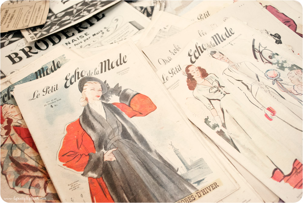 Vintage French fashion magazines