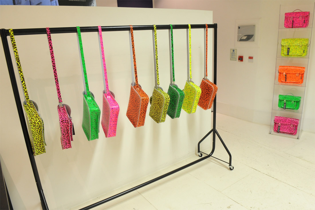 Zatchels SS12 press day - neon leopard print and floral print satchels
