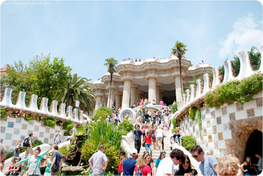 Barcelona, Spain. The entrance to Park Guell.