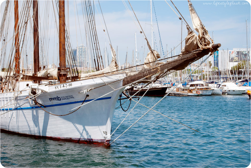 Barcelona, Spain. Yachts in the port.