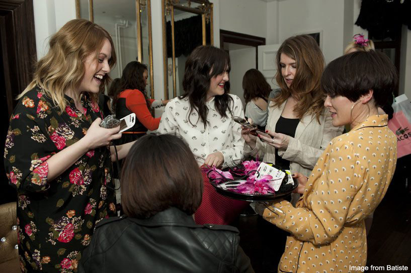 Batiste Lace party - blogger fun (Becky life/style/flash., Really Ree, KLG Hair)