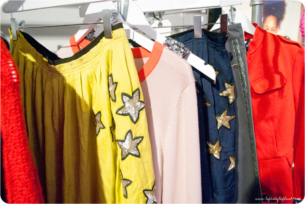Boden AW12 press day - childrenswear / girls' skirts with sequinned stars embellishment