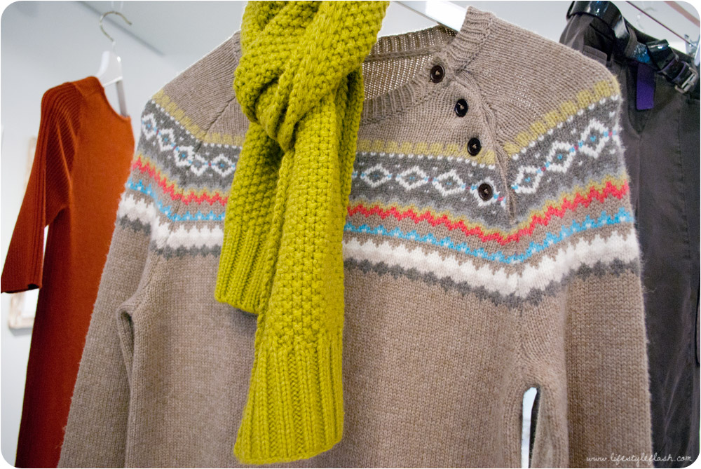 Boden AW12 press day - fairisle jumper and bright scarf