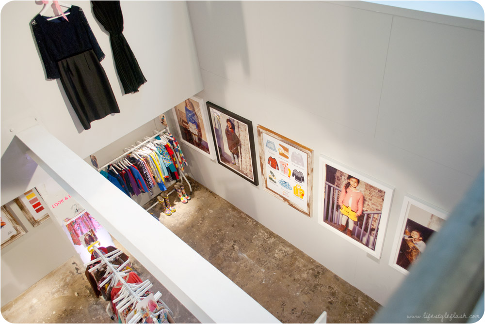 Boden AW12 press day - looking down on the showroom from the mezzanine