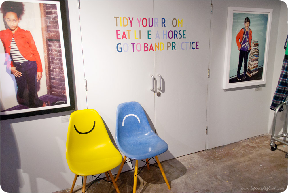 Boden AW12 press day - showroom with 'smiley' chairs