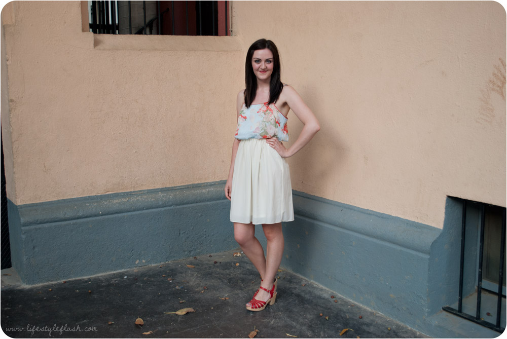 What I wore - Barcelona outfit (Jarlo London dress, Swedish Hasbeens for H&M shoes)