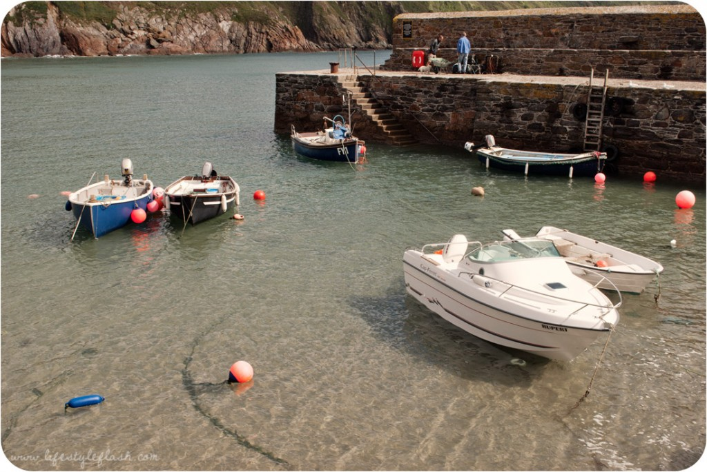 Cornwall: boats in Gorran Haven harbour