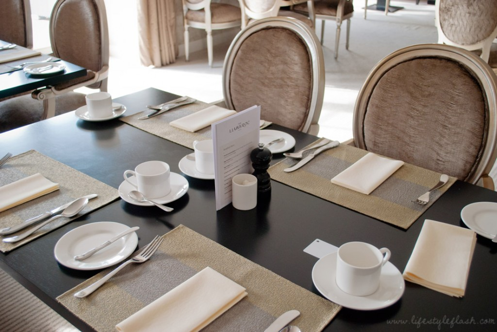 Llawnroc hotel, Cornwall: breakfast table