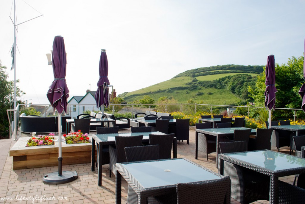 Llawnroc hotel, Cornwall: outdoor terrace view