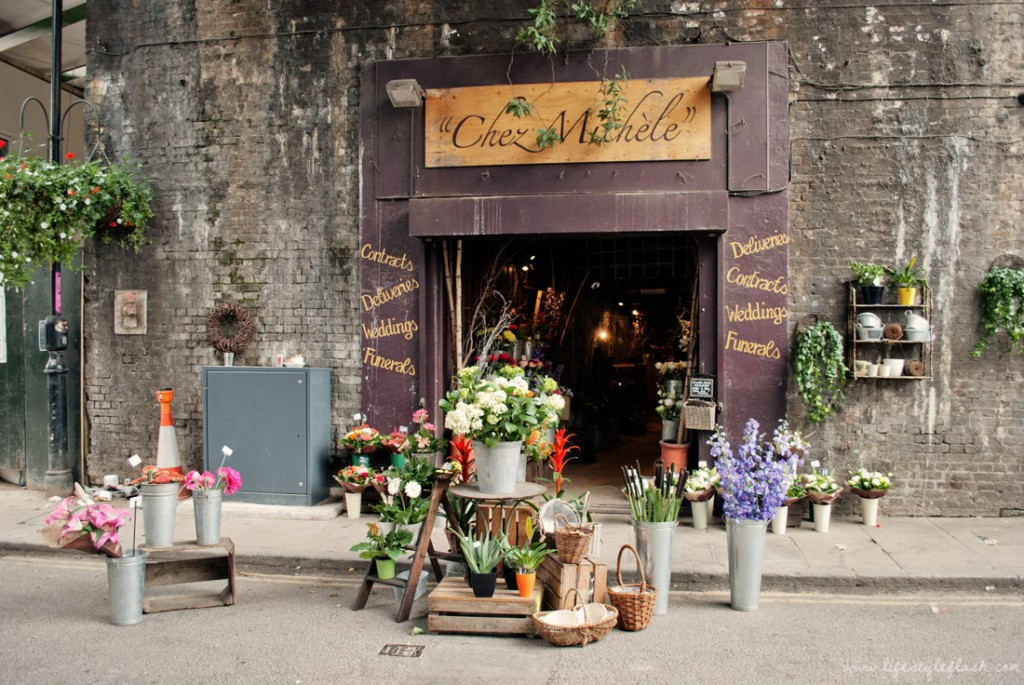 Chez Michele florist in Borough Market in London