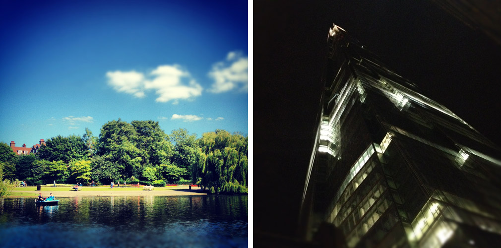Instagram photos - Regents' Park boating lake, Shard London