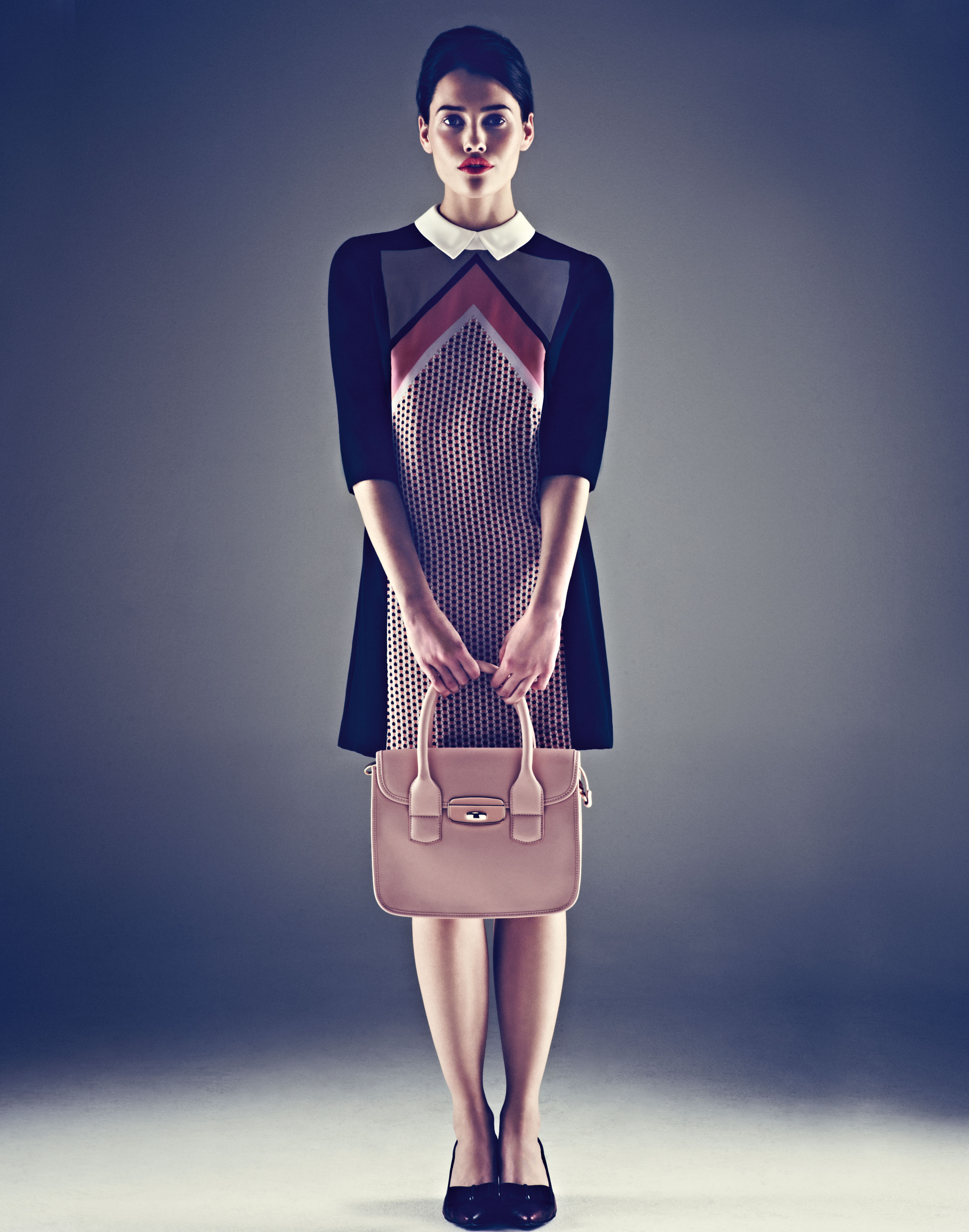 M&S AW12 - Limited Collection 60s-style dress, bag and shoes