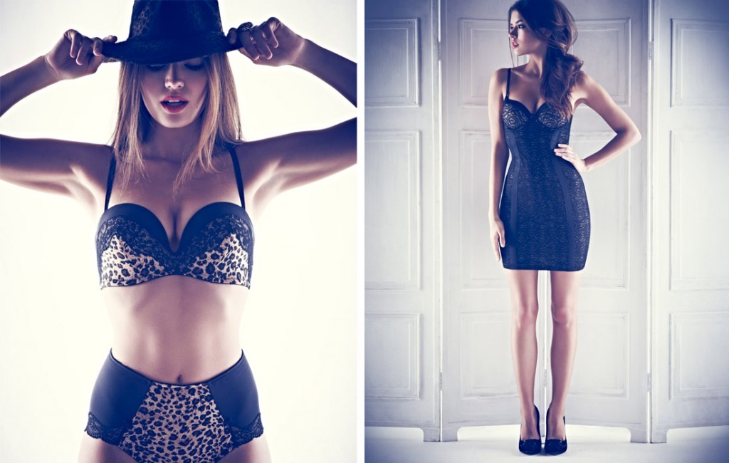 M&S AW12 lingerie - Collette Dinnigan for Marks and Spencer bra and knickers set, M&S slip and shoes