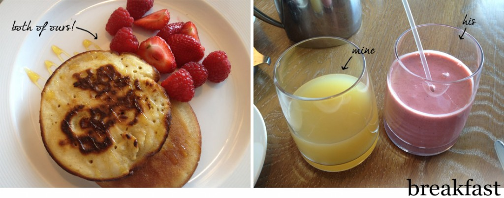 The Scarlet restaurant, Cornwall: our breakfast