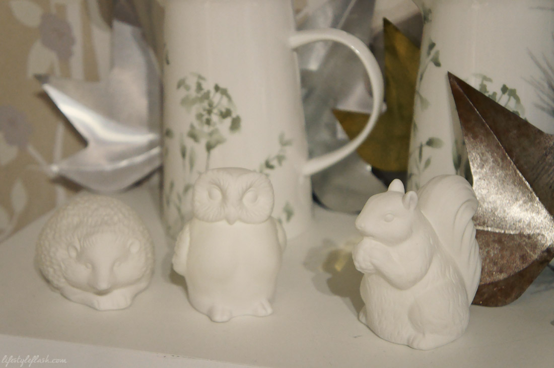 Ceramic woodland animals at the Laura Ashley blog birthday party