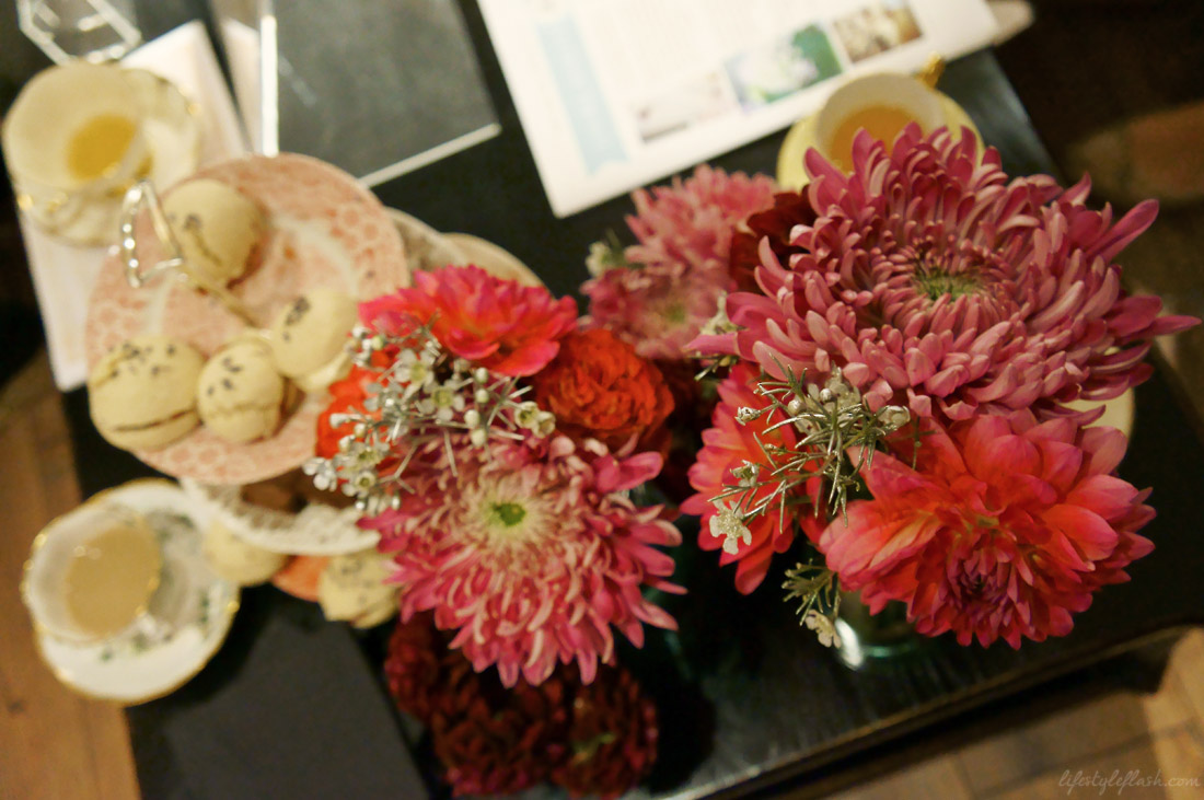 Flowers and Vintage Patisserie cakes at the Laura Ashley blog birthday party