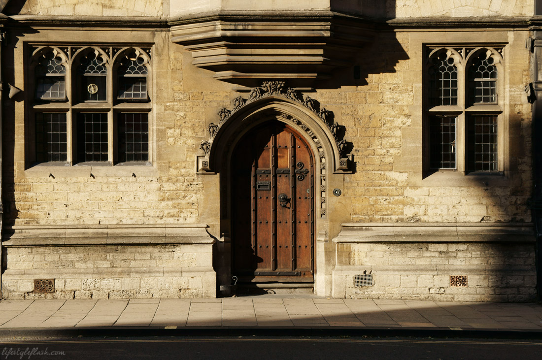 Old wooden doorway, Oxford