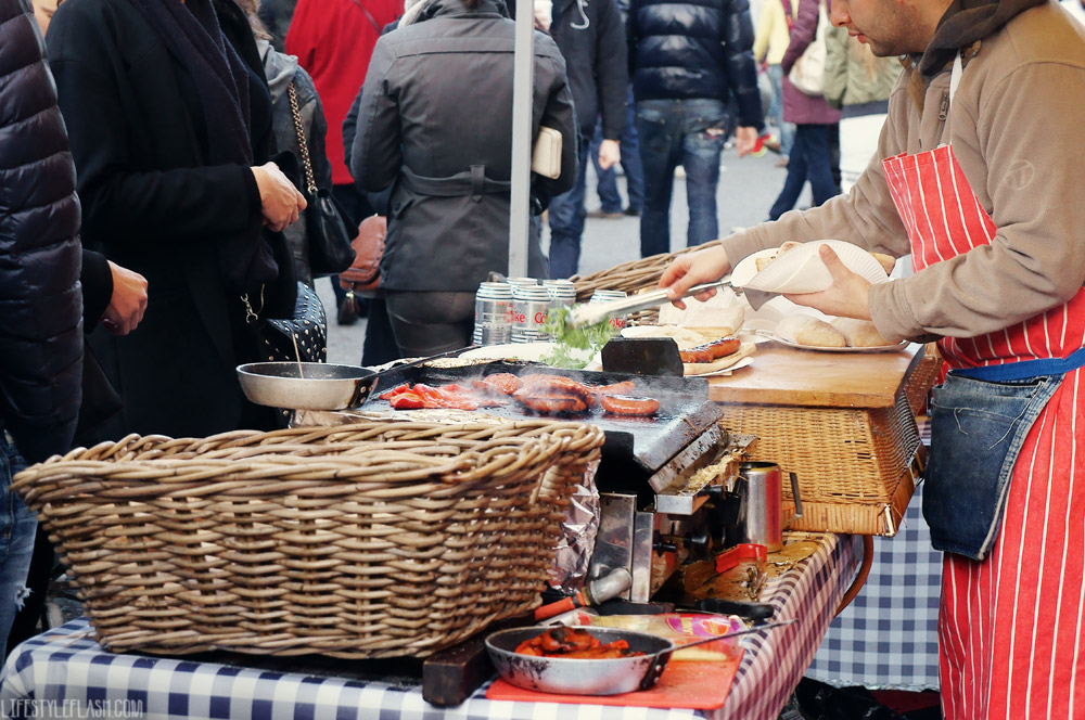 Chorizo hot dogs at Primrose Hill Christmas Fair (2012)