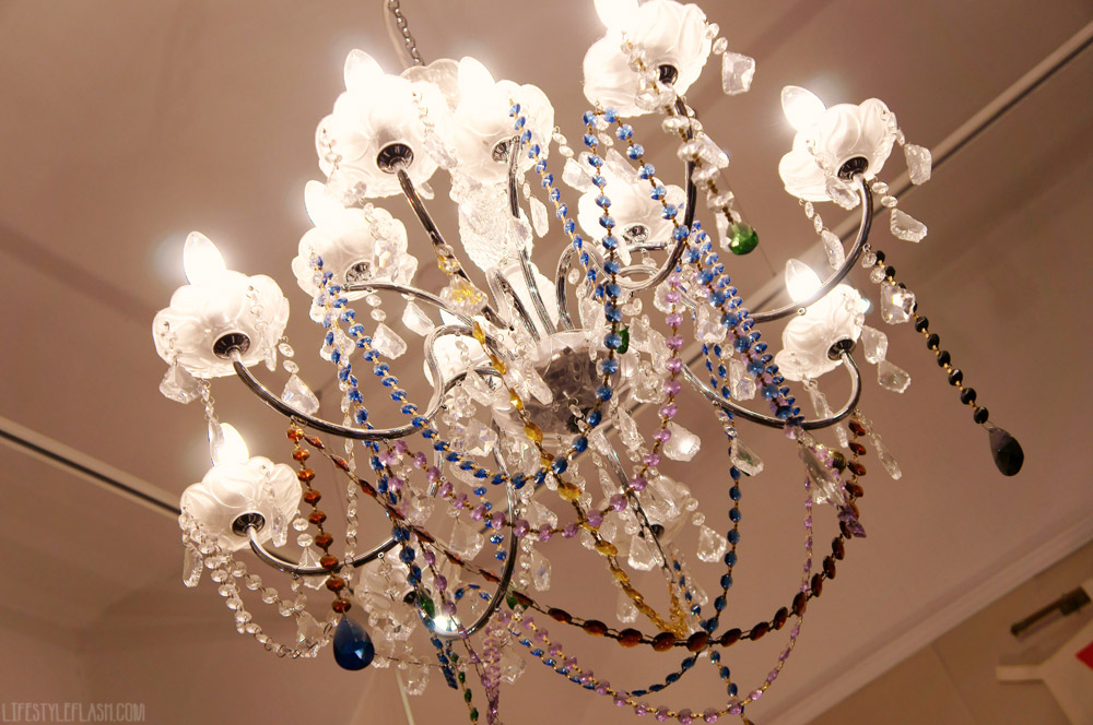 Chandelier in mary's living & giving shop, Primrose Hill
