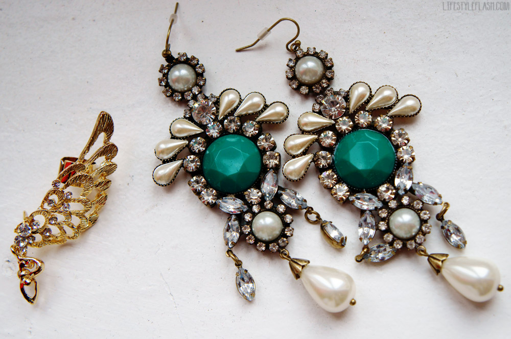 Accessorize statement earrings, Angelica London ear cuff