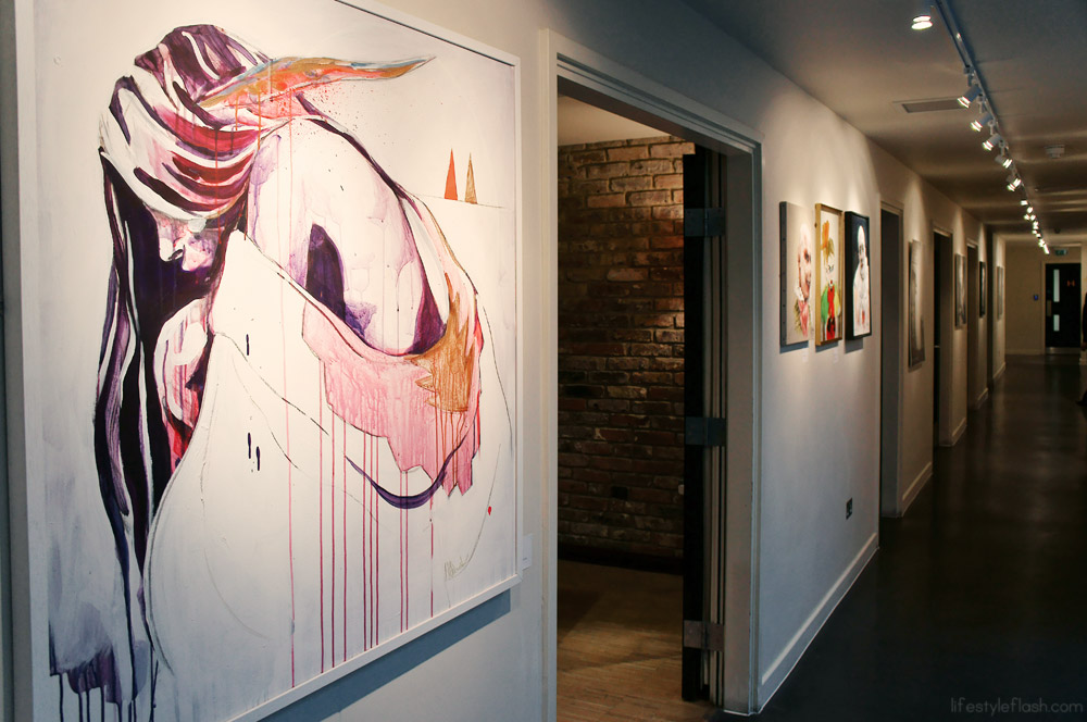 Art gallery at the Hoxton Hotel, London