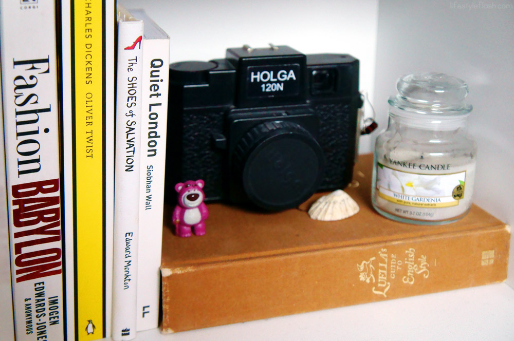 Books, Holga camera & sentimental knick knacks