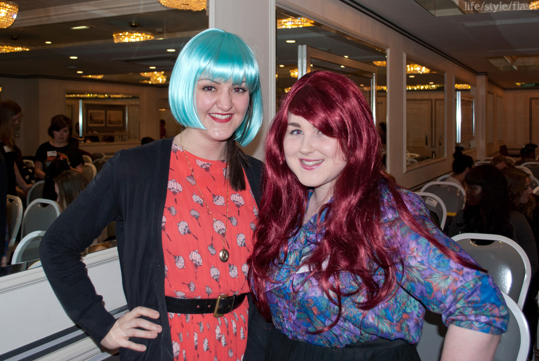 TOWIB, February 2012, me and Jemma Louise in Annabelle's Wigs