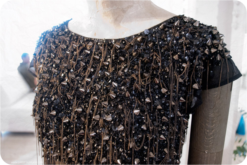 All Saints AW12 press day - 'conical' embellished top