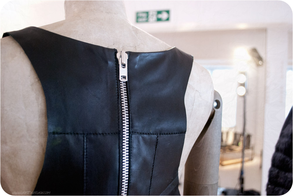 All Saints AW12 press day - leather zip-back top