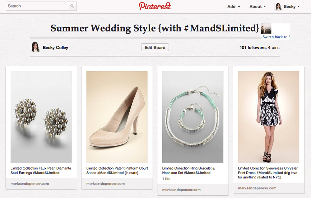 Limited Collection Pinterest board by Becky Colley (lifestyleflash)